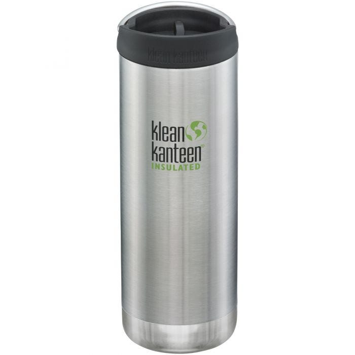 Klean Kanteen TKWide 473ml Insulated Bottle Cafe Cap Brushed Stainless