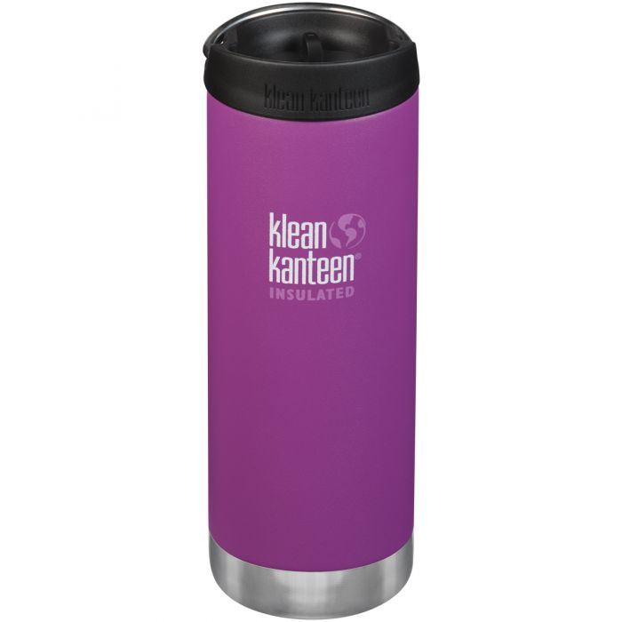 Klean Kanteen TKWide 473ml Insulated Bottle Cafe Cap 2.0 Berry Bright