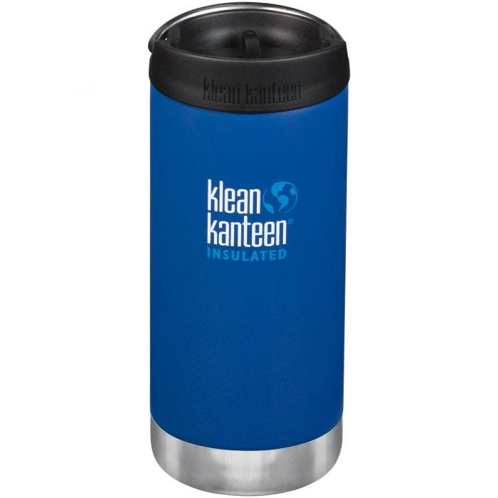 Klean Kanteen TKWide 355ml Insulated Bottle Cafe Cap Deep Surf
