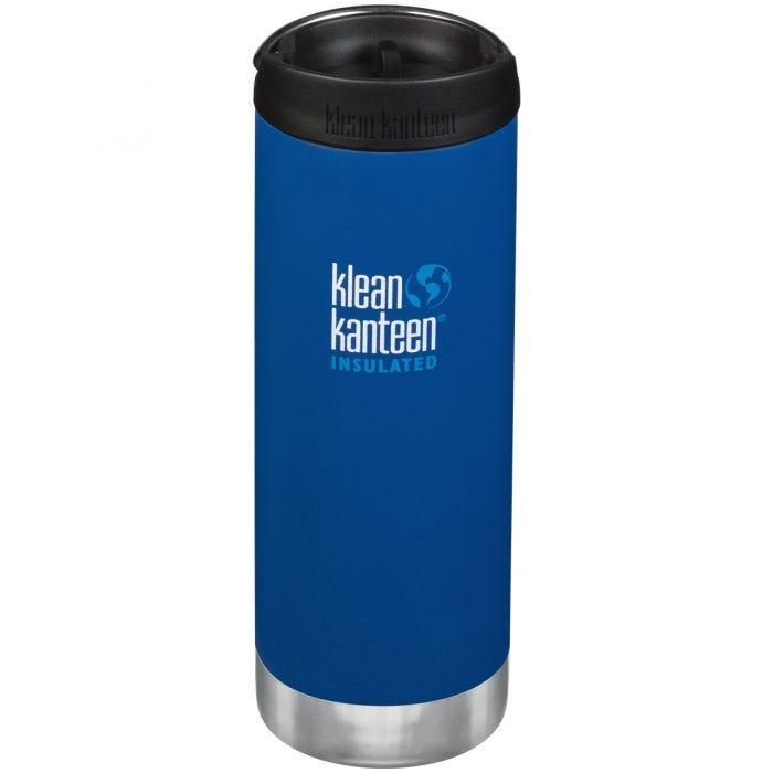 Klean Kanteen TKWide 473ml Insulated Bottle Cafe Cap 2.0 Deep Surf