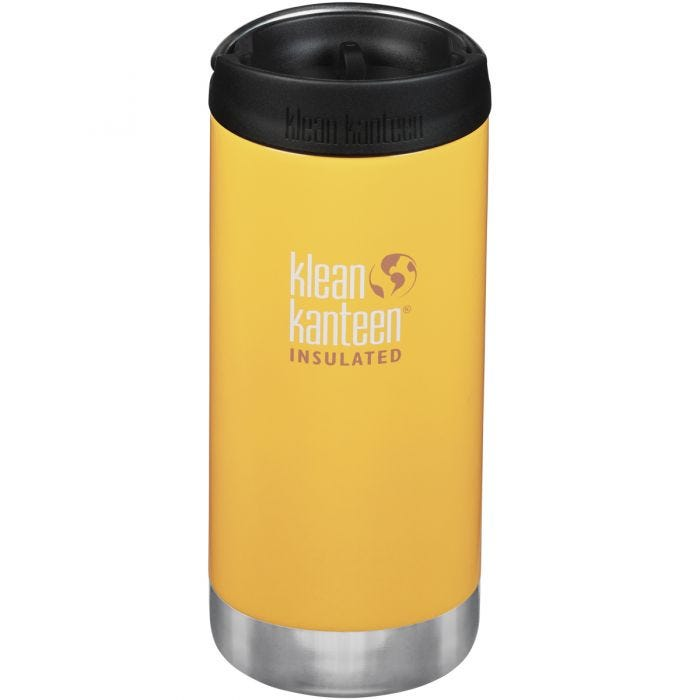 Klean Kanteen TKWide 355ml Insulated Bottle Cafe Cap Lemon Curry
