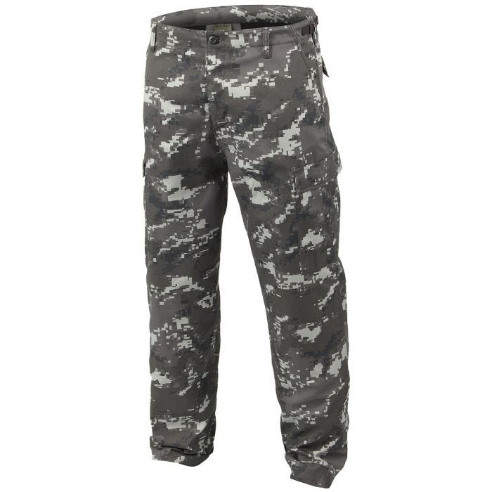 Mil-Tec BDU Ranger Combat Trousers Digital Black