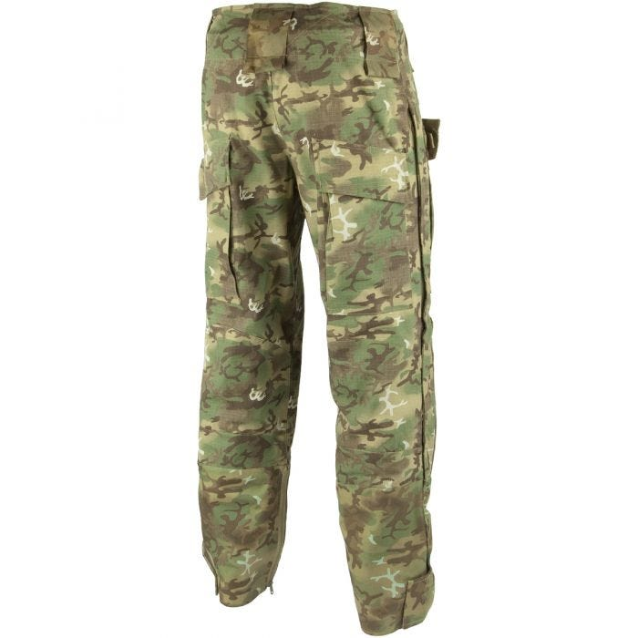 Mil-Tec Warrior Trousers with Knee Pads Arid Woodland