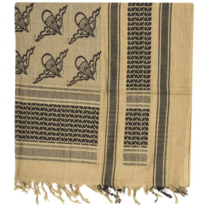 Mil-Tec Shemagh Scarf Paratrooper Coyote / Black