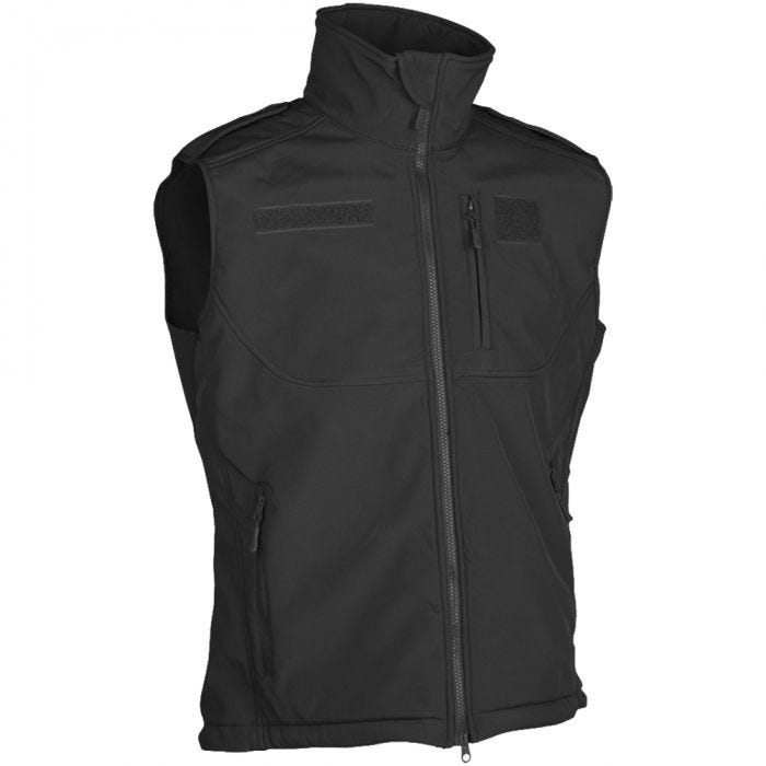 Mil-Tec Soft Shell Vest Black