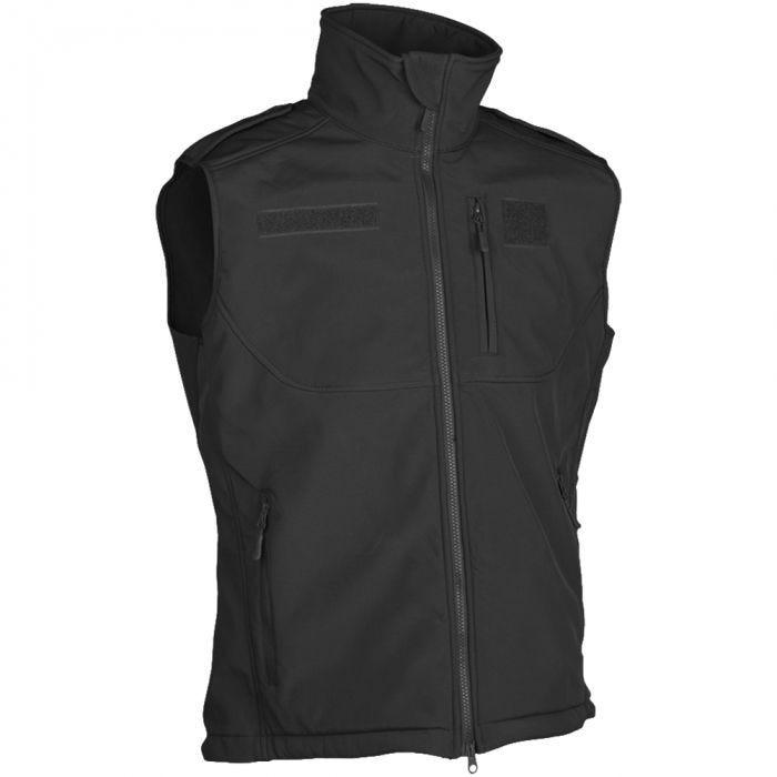 Mil-Tec Soft Shell Vest Black