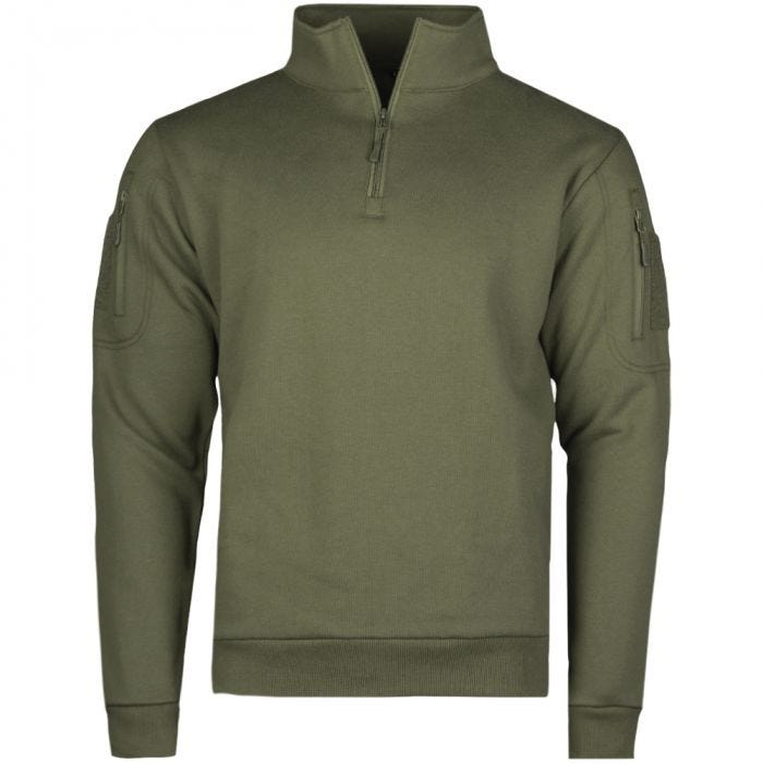 Mil-Tec Tactical Sweatshirt with Zipper Ranger Green