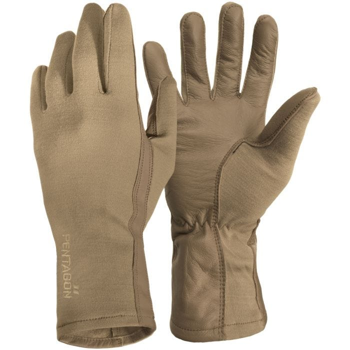 Pentagon Long Cuff Pilot Gloves Coyote