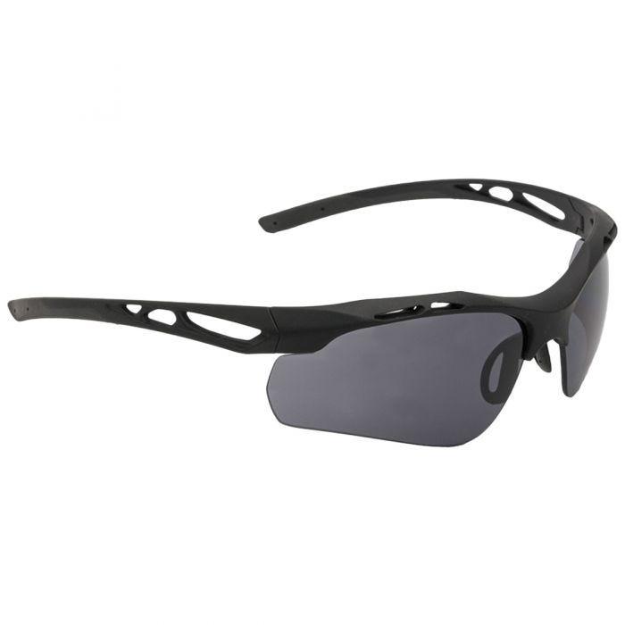 Swiss Eye Attac Sunglasses - Smoke + Orange + Clear Lens / Rubber Black Frame