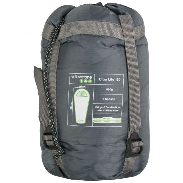 Yellowstone Ultra Light 150 Sleeping Bag Blue/Black