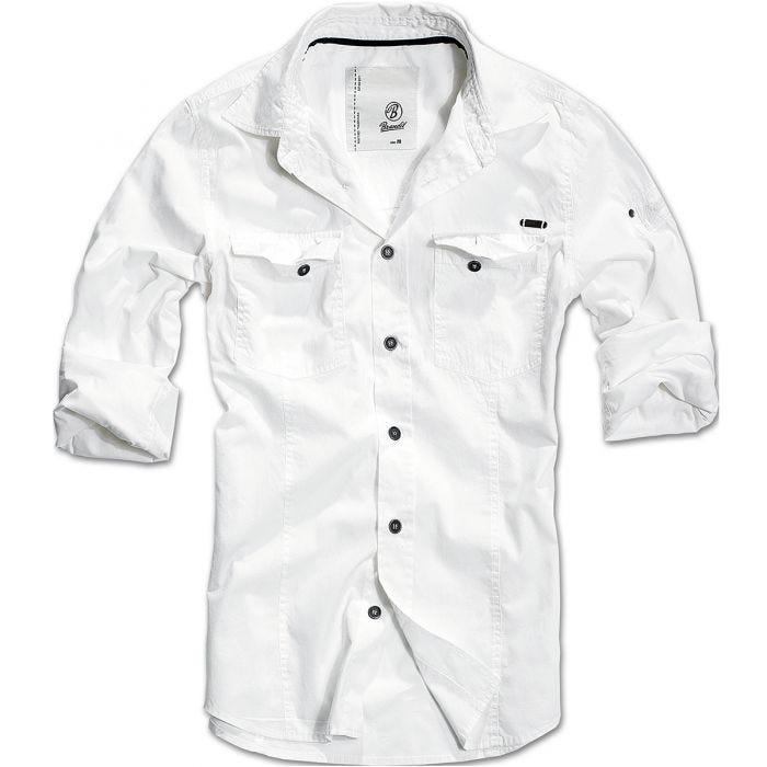 Brandit SlimFit Shirt White