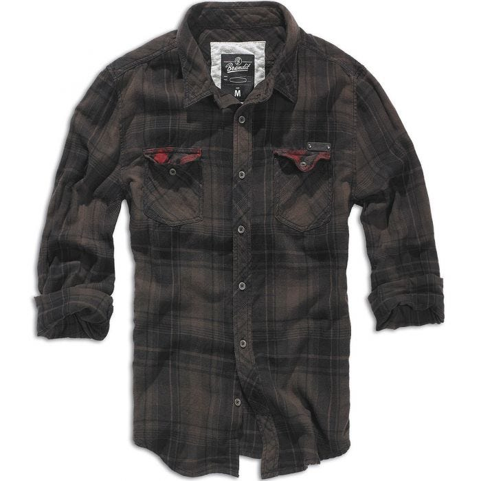 Brandit Checkshirt Duncan Brown / Black