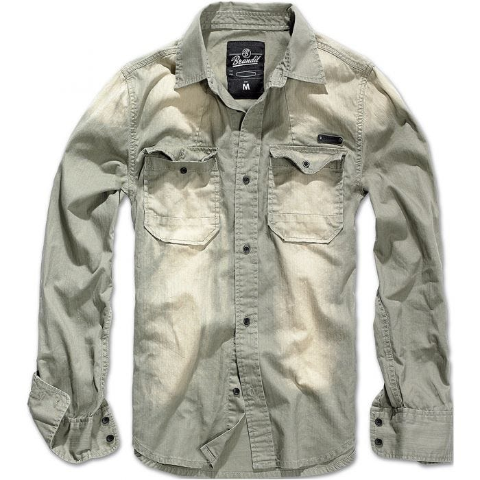 Brandit Hardee Denim Shirt Grey