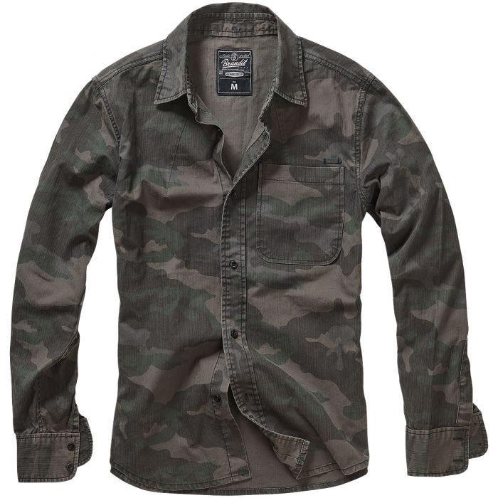 Brandit Josh Shirt Long Sleeve Dark Camo