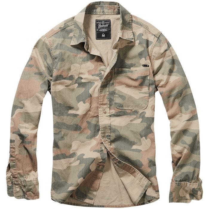 Brandit Josh Shirt Long Sleeve Light Woodland