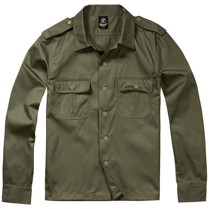 Brandit US Shirt Long Sleeve Olive