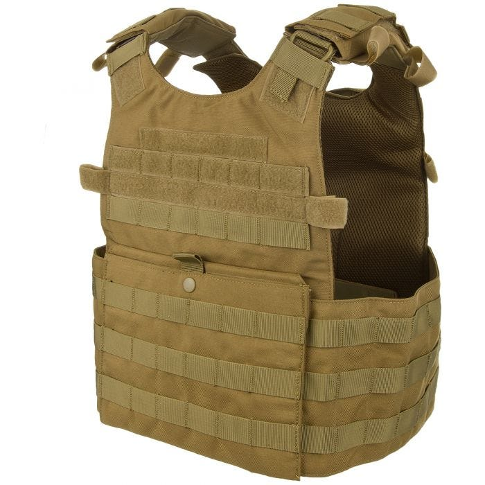 Condor Gunner Lightweight Plate Carrier Coyote Brown