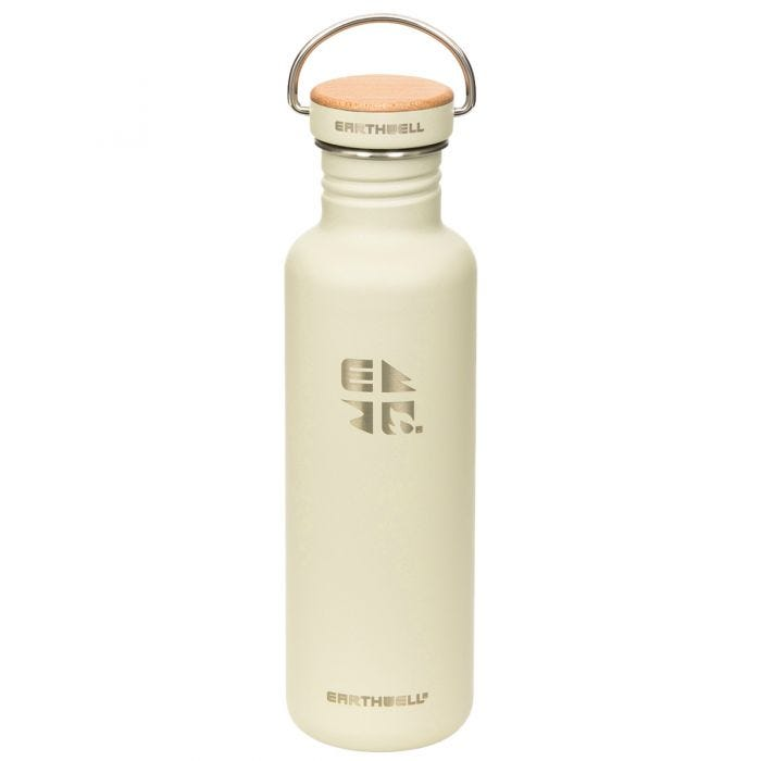 Earthwell Woodie Single Wall Bottle 800ml Maple / Baja Sand