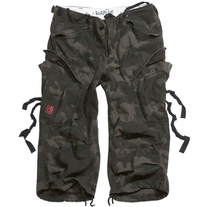 Surplus Engineer Vintage 3/4 Shorts Black Camo
