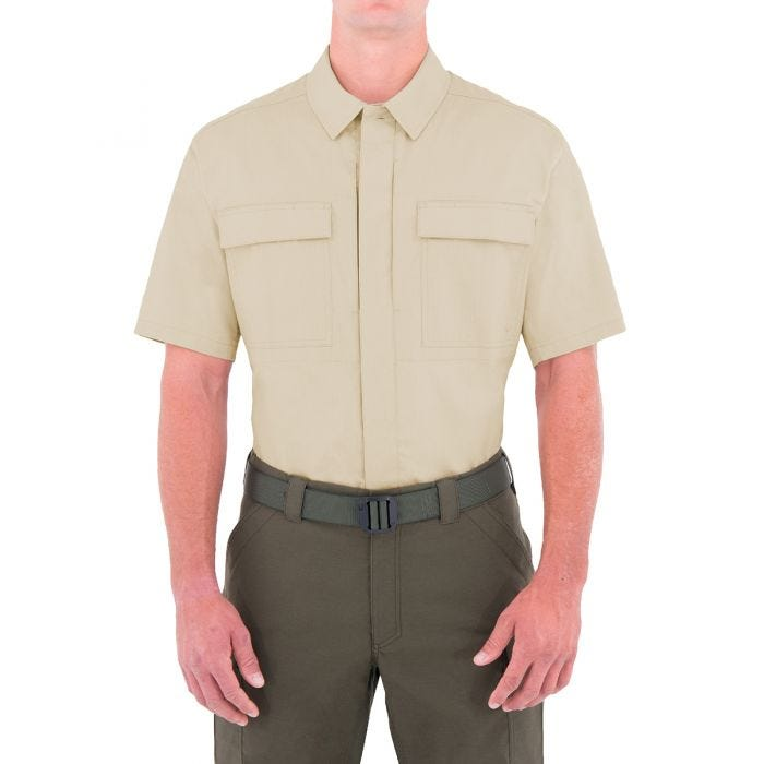 First Tactical Men's Specialist Short Sleeve BDU Shirt Khaki