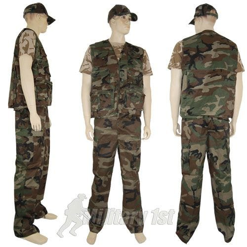 Mil-Tec Fishing Vest Woodland