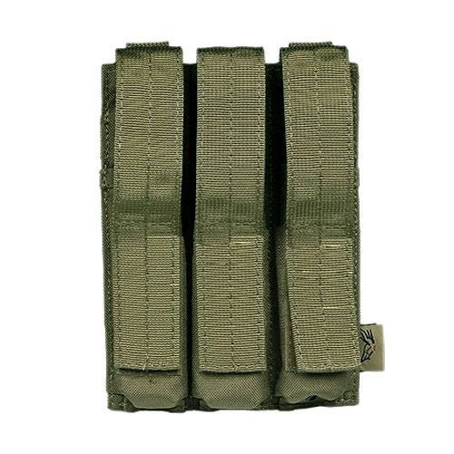 Flyye Triple MP5 Magazine Pouch MOLLE Ranger Green