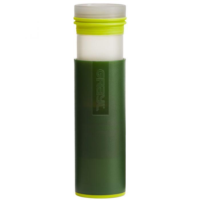 GRAYL Ultralight Water Purifier Bottle + Filter Green