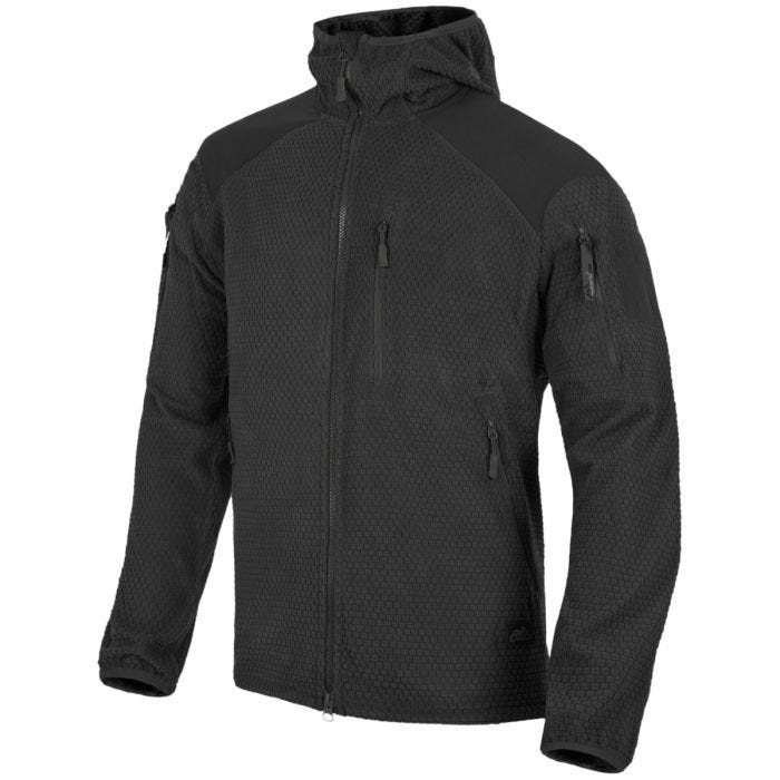 Helikon Alpha Hoodie Jacket Grid Fleece Black