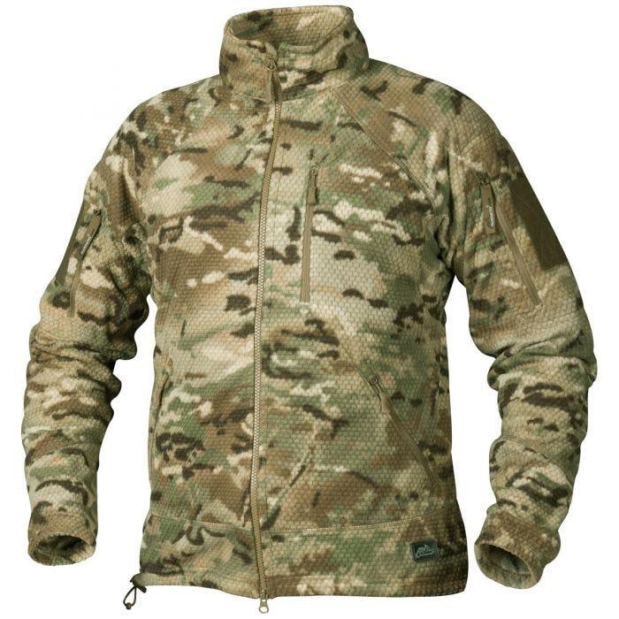 Helikon Alpha Tactical Grid Fleece Jacket Camogrom