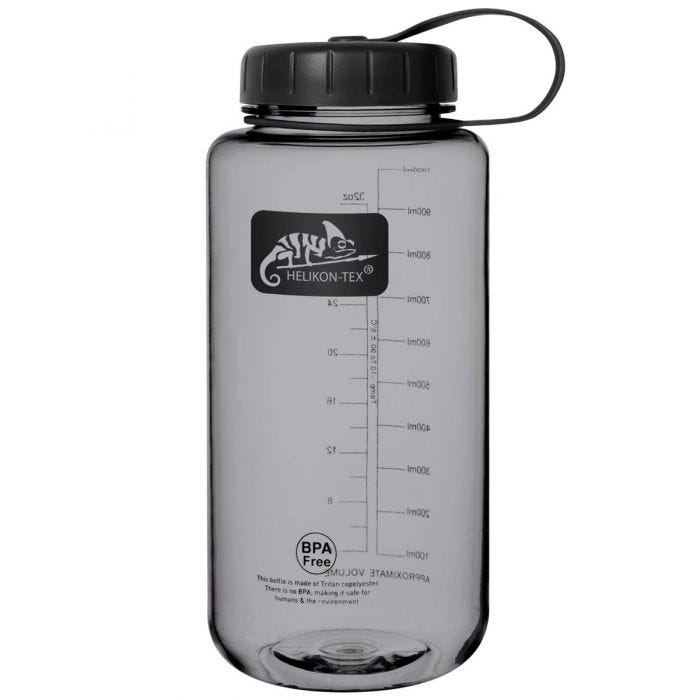 Helikon Tritan Bottle Wide Mouth 1 Litre Smoke