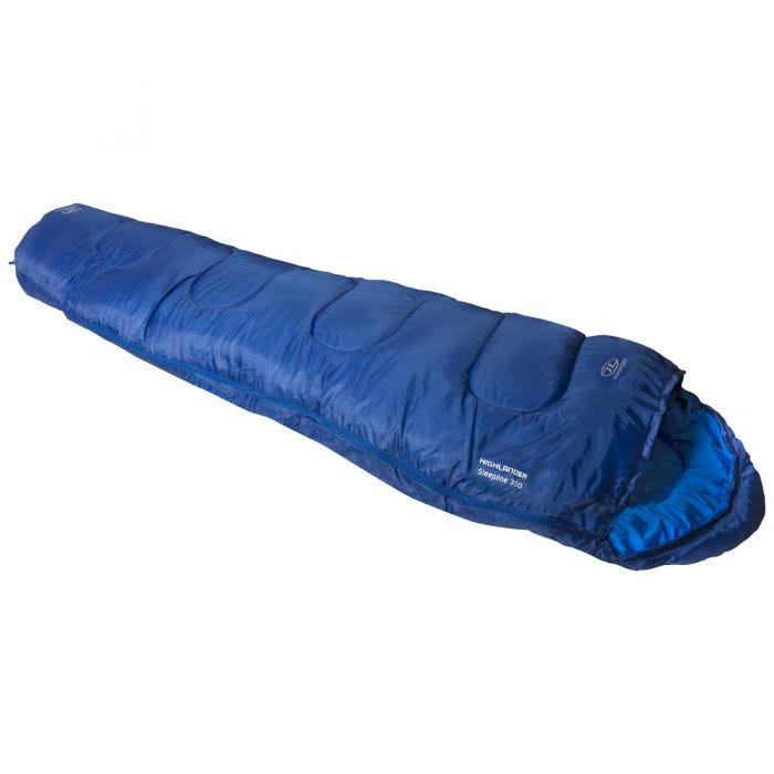 Highlander Sleepline 350 Mummy Sleeping Bag Blue