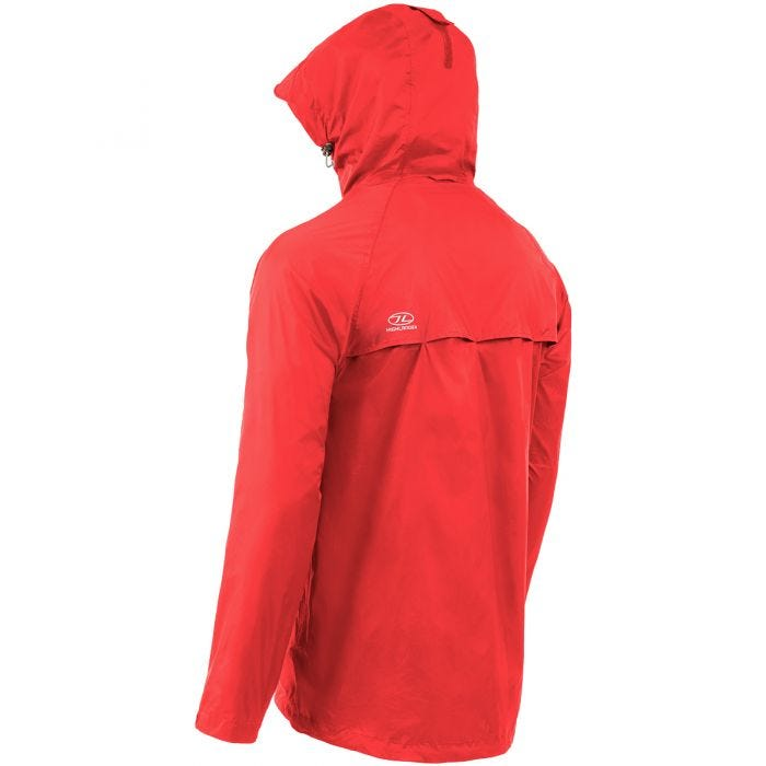 Highlander Stow & Go Packaway Jacket Red