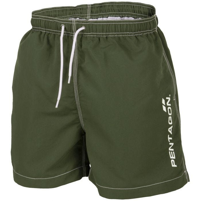 Pentagon Hippocampus Swimming Shorts Olive Green