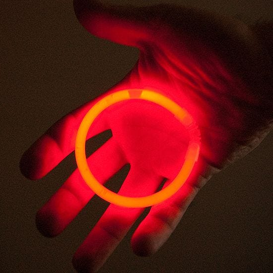 "Illumiglow 7.5"" Wrist Band Red"
