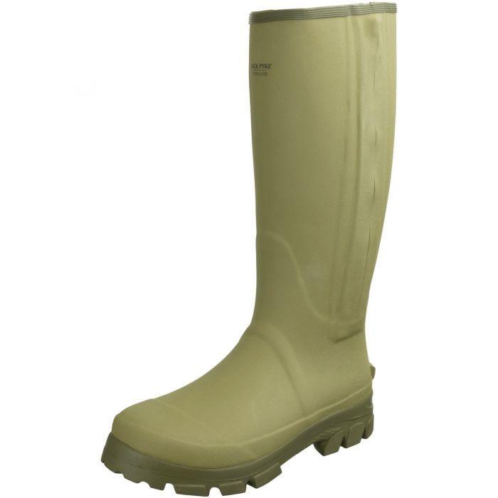 Jack Pyke Ashcombe Zipped Wellington Boots Light Olive