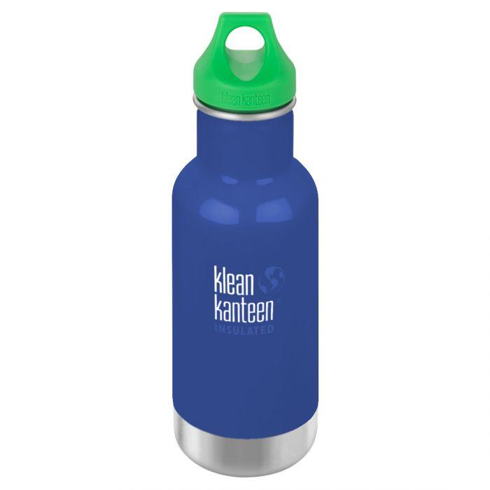 Kid Kanteen 355ml Classic Insulated Bottle Loop Cap Coastal Waters