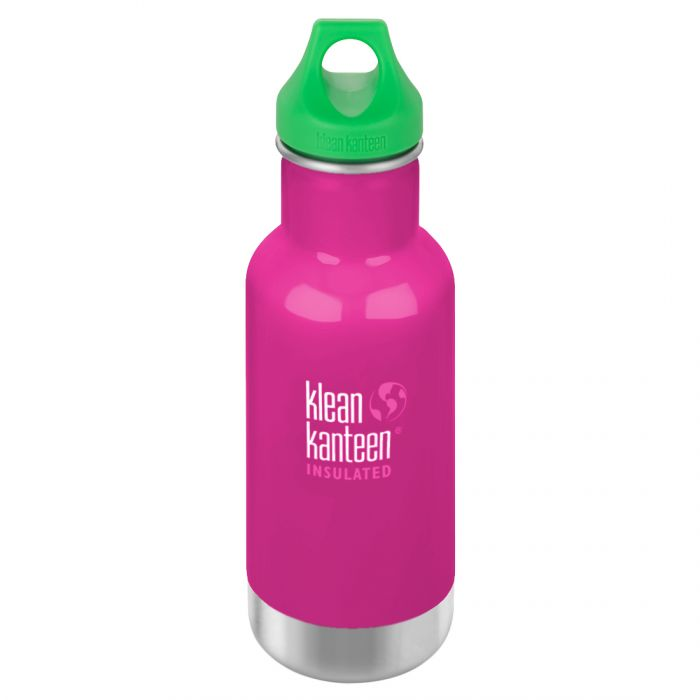 Kid Kanteen 355ml Classic Insulated Bottle Loop Cap Wild Orchid