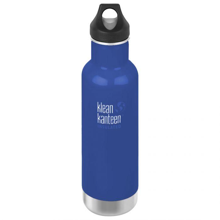Klean Kanteen 592ml Classic Insulated Bottle Loop Cap Coastal Waters