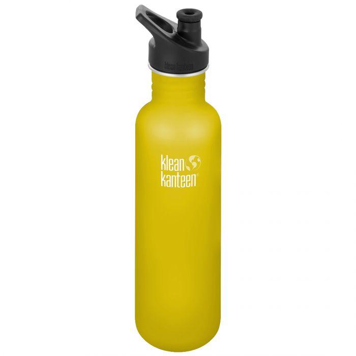 Klean Kanteen Classic 800ml Bottle with Sport Cap 3.0 Lemon Curry