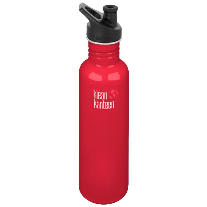 Klean Kanteen Classic 800ml Bottle with Sport Cap 3.0 Mineral Red