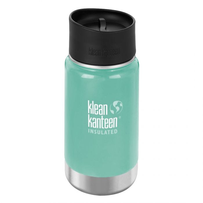 Klean Kanteen Wide Mouth Insulated 355ml Bottle Cafe Cap 2.0 Sea Crest