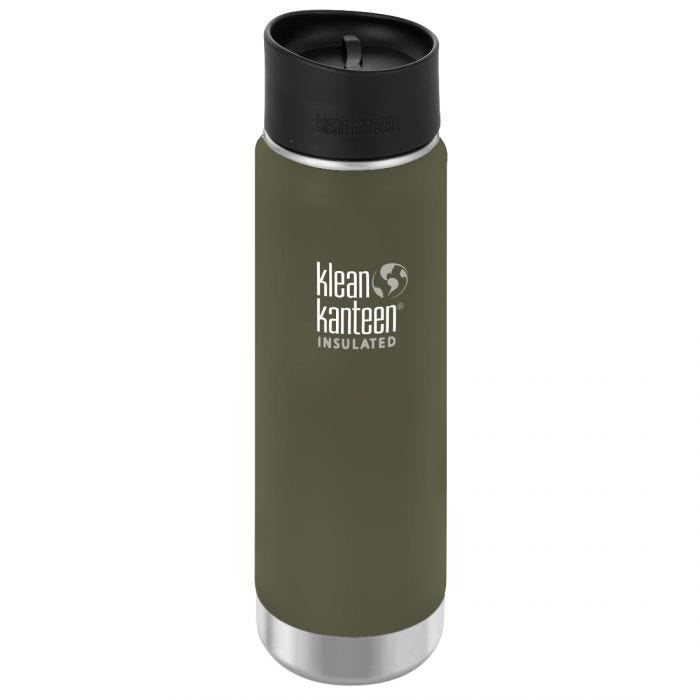 Klean Kanteen Wide Mouth Insulated 592ml Bottle Cafe Cap 2.0 Fresh Pine