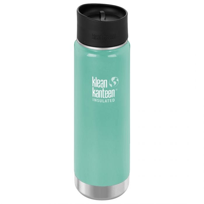 Klean Kanteen Wide Mouth Insulated 592ml Bottle Cafe Cap 2.0 Sea Crest