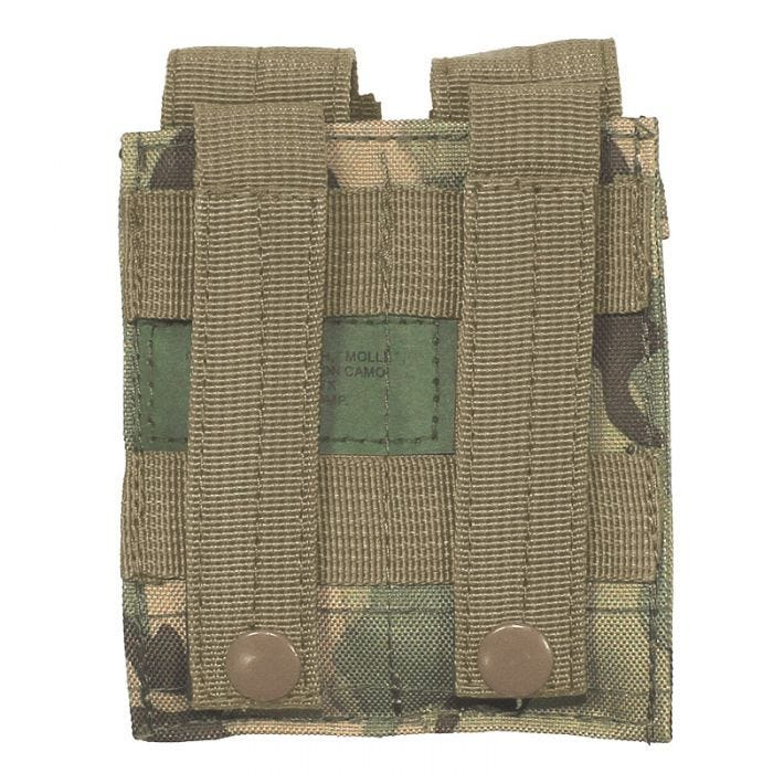MFH Double 9mm Magazine Pouch Small MOLLE Operation Camo