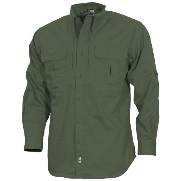 MFH Strike Tactical Shirt Long Sleeve OD Green