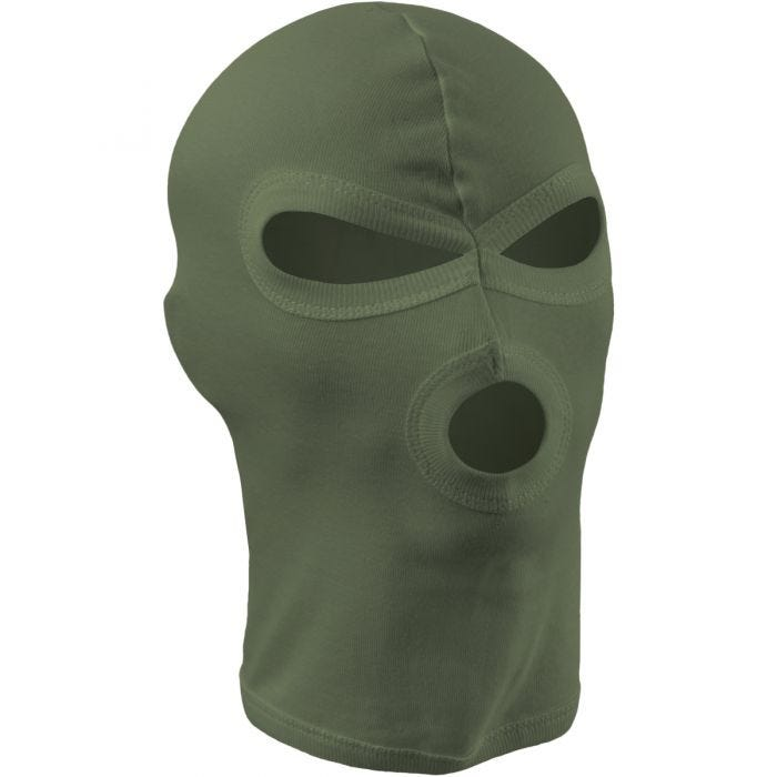 MFH 3 Hole Balaclava Lightweight Cotton OD Green