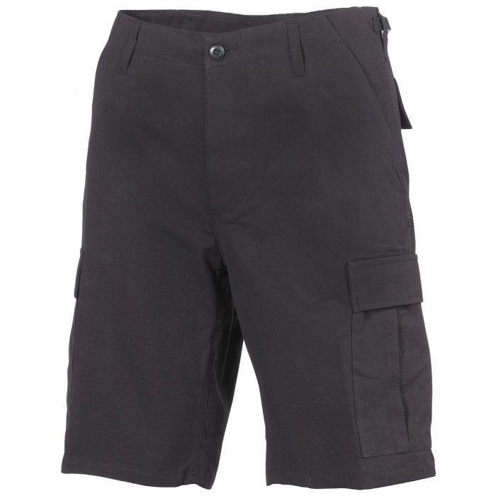 MFH US BDU Bermuda Shorts Ripstop Black