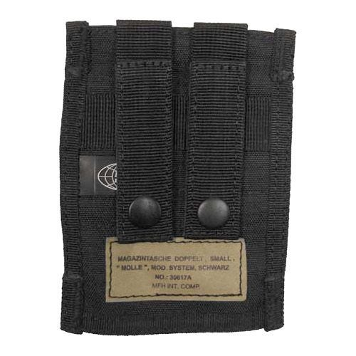 MFH Double 9mm Magazine Pouch Small MOLLE Black