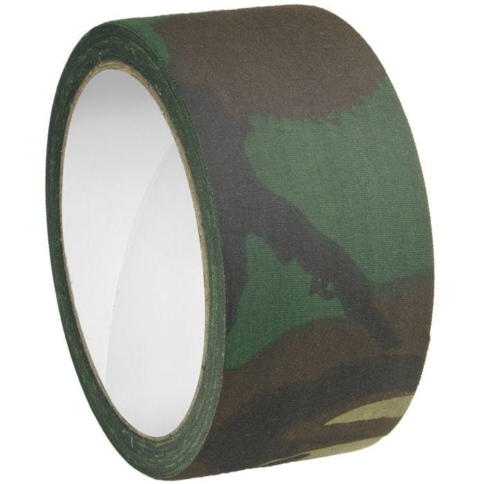 MFH Fabric Tape 5cm x 10m Woodland