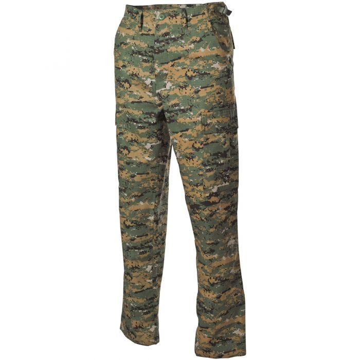 MFH BDU Combat Trousers Ripstop Digital Woodland